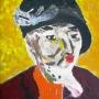 Portrait-of-woman-in-black-hat