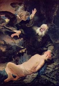 Рембрандт «Жертвоприношение Авраама»