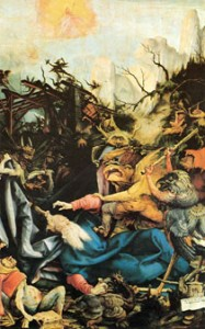 художник Маттиас Грюневальд. Искушение святого Антония.