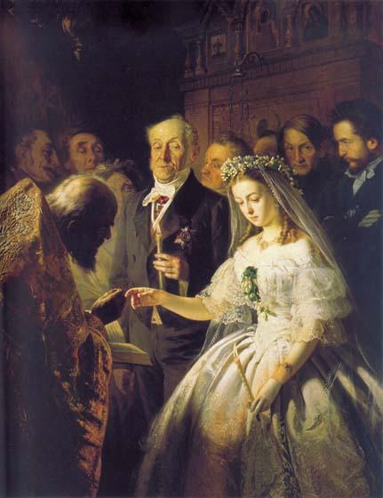 Картина «Неравный брак» Пукирева