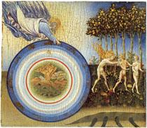 художник Джованни ди Паоло. Создание и изгнание из рая.